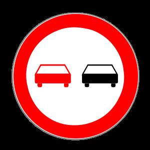 Das absolute Überholverbot gilt bei Schild 276.